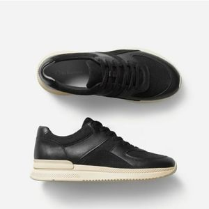 NEW Everlane The Trainer Black Leather Sneakers